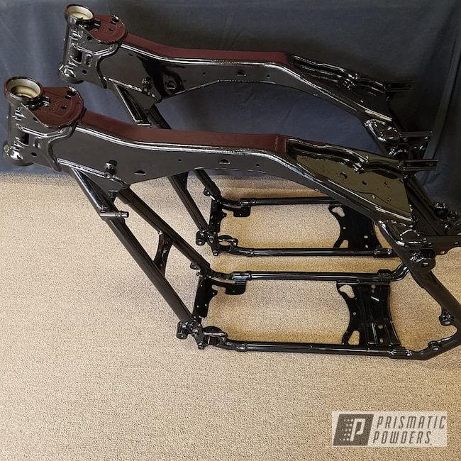 Powder Coating: Motorcycle Frame,Motorcycle Parts,Ink Black PSS-0106,Motorcycles