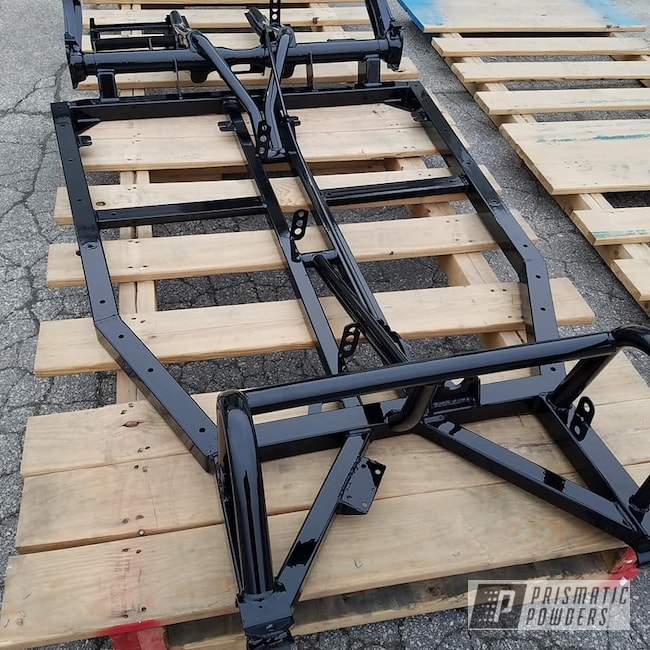 Powder Coating: Automotive,Dune Buggy Frame,Car Frame,Ink Black PSS-0106