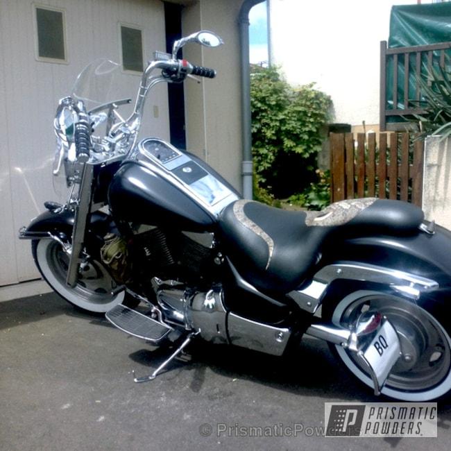 Suzuki Intruder Vlc 1500 Motorcycle Coated In A Satin Black Metallic Finish