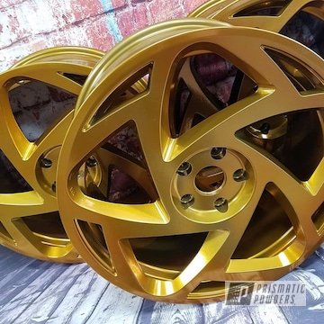 Powder Coated Gold Wheels