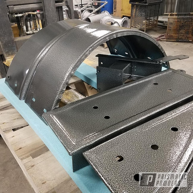 Powder Coating: Clear Vision PPS-2974,boat trailer,Textured Finish,Silver Artery PVS-3014,Trailer