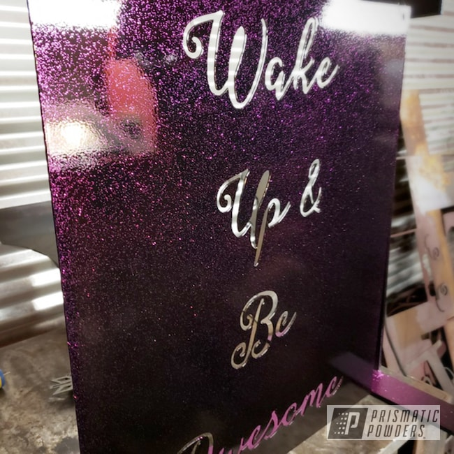 Powder Coating: Art,Boutique Sign,Disco Fuchsia PPB-7035,Metal Signs