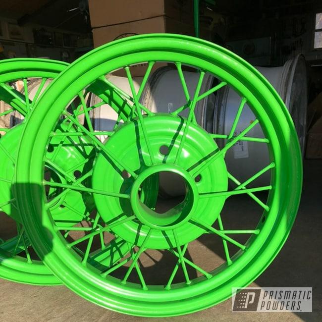Green Powder Coated Model A Wheels