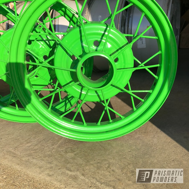 Powder Coating: Wheels,Automotive,Antique Wheel,Racer Green PSS-4531