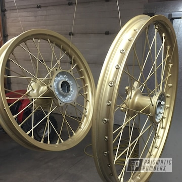 Gold Powder Coated Dirt Bike Wheels