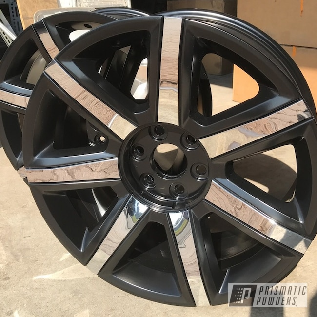 "Powder Coating: Wheels,Automotive,GLOSS BLACK USS-2603,20"",Cadillac,20"" Wheels"