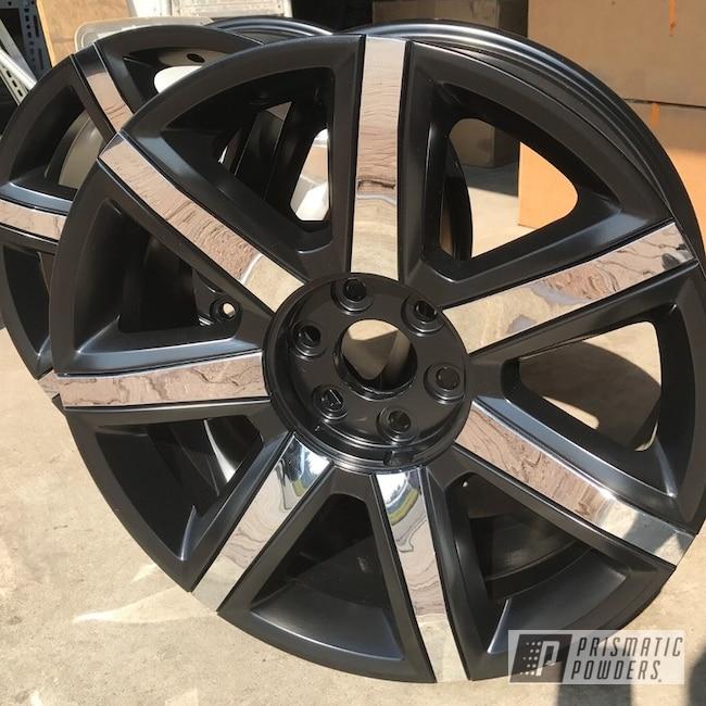 "Powder Coating: Wheels,Automotive,GLOSS BLACK USS-2603,20"",Cadillac,20"" Wheels"