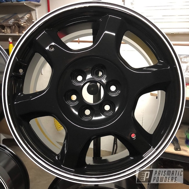 "Powder Coating: Wheels,Matte Black PSS-4455,Automotive,18"",18"" Wheel,Cloud White PSS-0408,Cadillac"