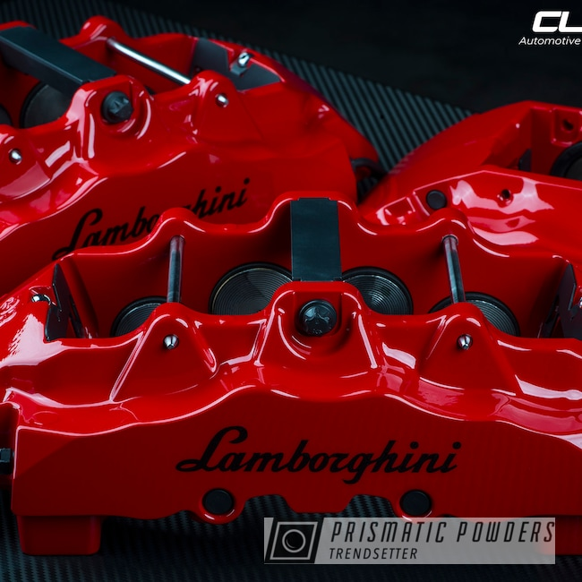 Powder Coating: Red Wheel PSS-2694,Automotive,Brembo,Lamborghini,Murcielago,brakecalipers,Custom Brake Calipers