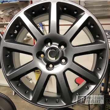 Powder Coated Wheels In Ultra Black Chrome