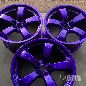 18 Inch Powder Coated Mazda Rx7 Wheels