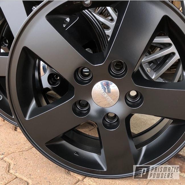 "Powder Coating: Wheels,Matte Black PSS-4455,Automotive,18"",18"" Wheels"