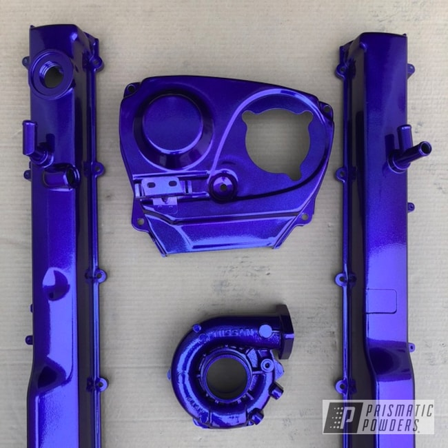Powder Coating: Illusion Purple PSB-4629,Automotive,Clear Vision PPS-2974,Nissan,Engine Parts,Nissan Wheels