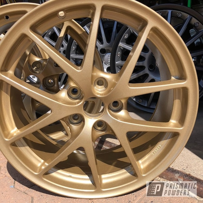 "Powder Coating: Wheels,Automotive,16"" Wheels,Poly Gold PMB-4211"