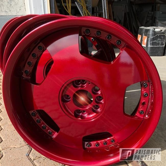 "Powder Coating: Wheels,Automotive,Clear Vision PPS-2974,20"",Illusion Cherry PMB-6905,JDM,20"" Wheels"