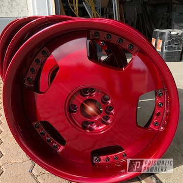 Powder Coated Red Jdm Wheels