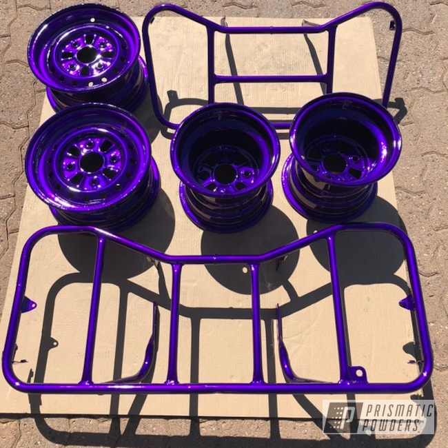 Powder Coating: Illusion Purple PSB-4629,Clear Vision PPS-2974,Custom Quad,ATV,Off-Road,Quad Parts,ATV Parts