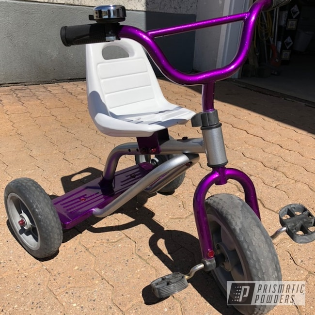 Powder Coating: Clear Vision PPS-2974,Heavy Silver PMS-0517,Tricycle,Illusion Violet PSS-4514