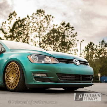 Vw Golf Wheels In Spanish Gold And Clear Vision