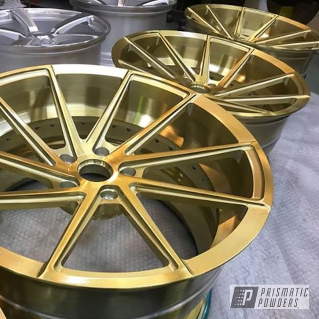 "Powder Coating: Wheels,Automotive,18"",Candy Gold PPB-2331,18"" Wheels"