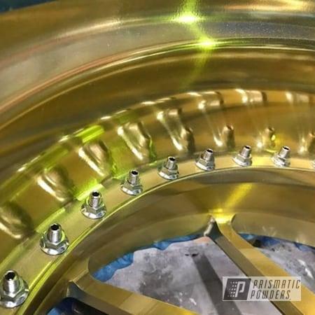 "Powder Coating: Wheels,Automotive,18"",Candy Gold PPB-2331,18"" Wheels"