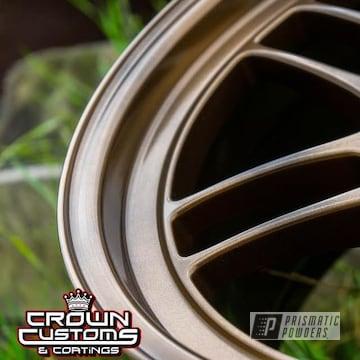 Powder Coated Enkei Aluminium Wheels