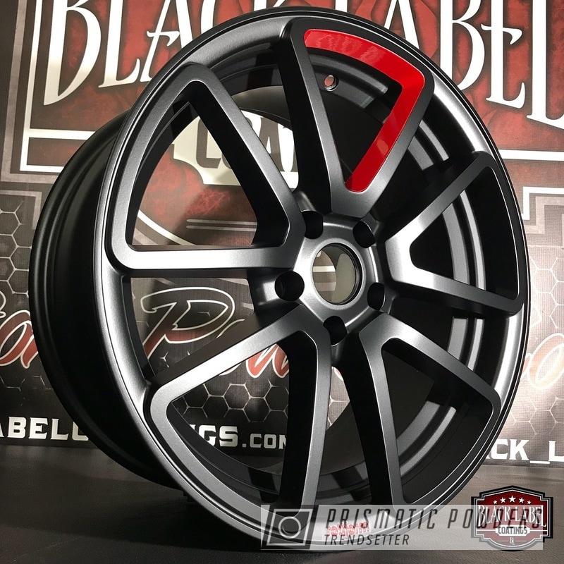 Powder Coating: Wheels,Automotive,BLACK JACK USS-1522,RAL 3002 RAL-3002,Rotiform