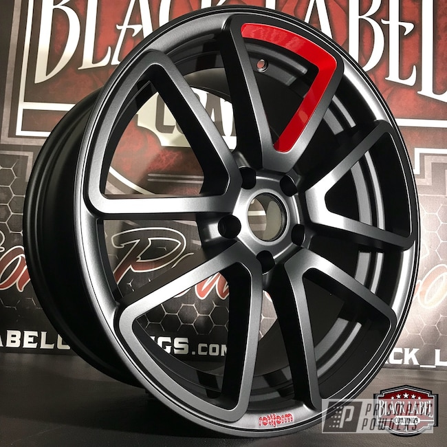 Powder Coating: Wheels,Automotive,BLACK JACK USS-1522,RAL 3002 RAL-3002,Rotiform