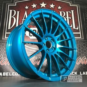 Powder Coated Blue Enkei Wheels