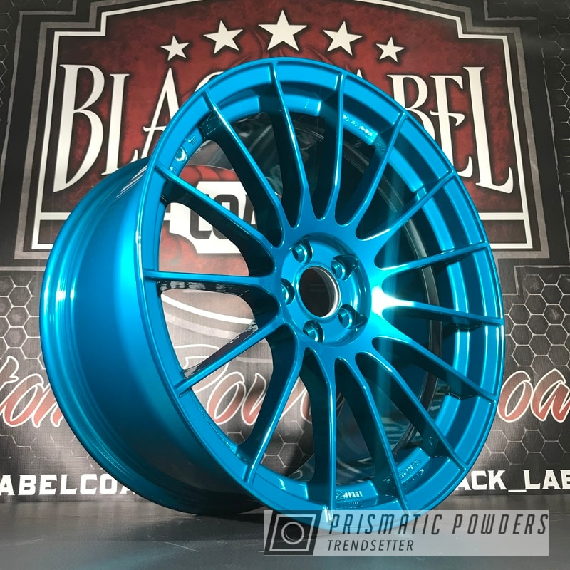 Powder Coated Blue Enkei Wheels