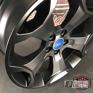 Powder Coated Black Ford Focus Wheels