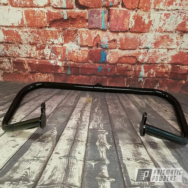 Powder Coating: Harley Davidson,Motorcycle Parts,Ink Black PSS-0106,Crash Bar