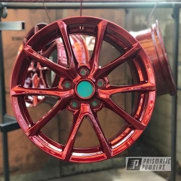 18 Inch Powder Coated Red Wheels