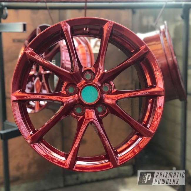 18 Inch Powder Coated Red Wheels