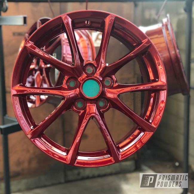 "Powder Coating: Wheels,Automotive,18"",LOLLYPOP RED UPS-1506,18"" Wheels"