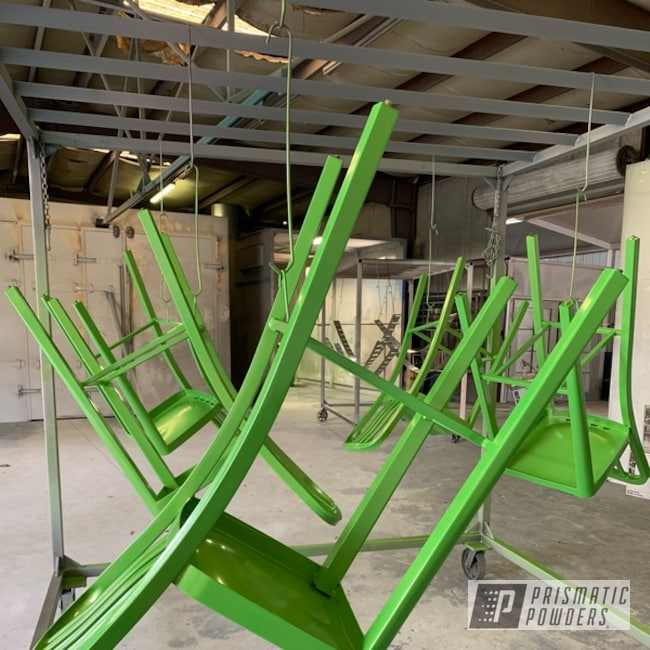 Powder Coating: Bar Chairs,Chairs,Bright Lime Green,Bright Lime Green PMB-6304,Green,Bar Chair