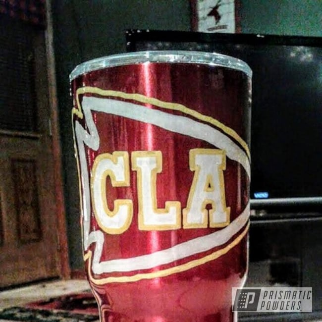 Powder Coating: 30oz,Rancher Red PPB-6415,Custom Tumbler Cup