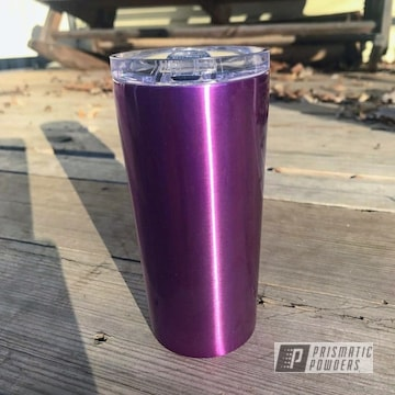 Powder Coated Purple Tumbler Cup
