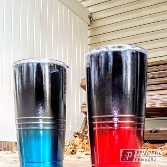 Powder Coating: Peeka Blue PPS-4351,Ink Black PSS-0106,Rancher Red PPB-6415,Custom Tumbler Cups