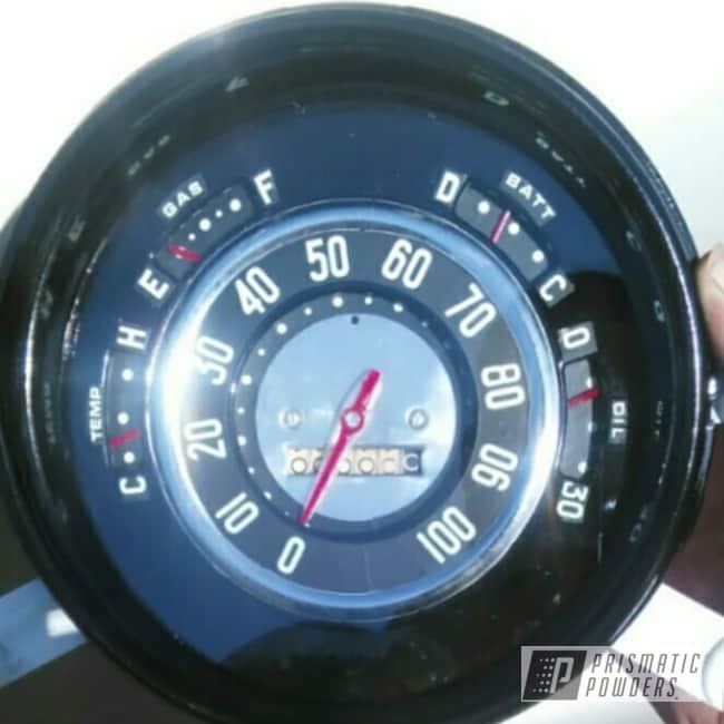 Powder Coating: Gauges,Ink Black PSS-0106,Deluxe,Chevy