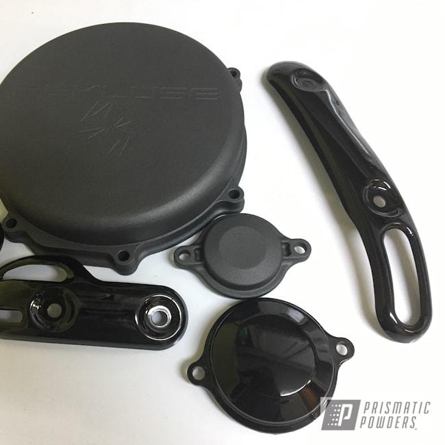 Powder Coating: ATV,Yamaha,Supermoto,GLOSS BLACK USS-2603,Exhaust,yz450f,Motorcycles,Clutch Cover,Dirt Bike