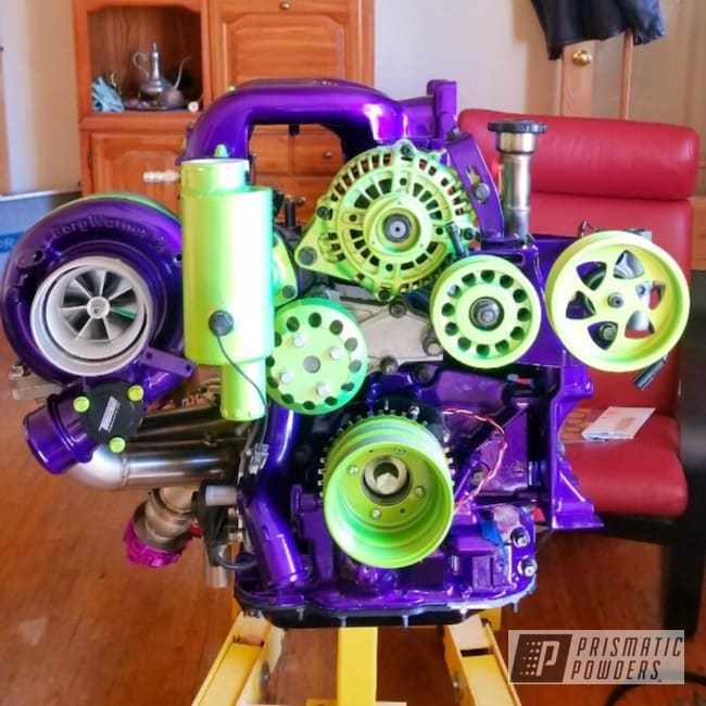 Powder Coating: Illusion Purple PSB-4629,BMW Silver PMB-6525,Automotive,Clear Vision PPS-2974,Ford Racing Engine Blue,Mazda,Shocker Yellow PPS-4765