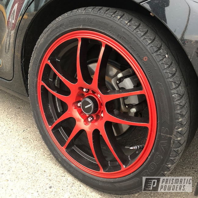 "Powder Coating: Wheels,18"",Matte Black PSS-4455,Automotive,Clear Vision PPS-2974,Illusion Red PMS-4515,Two Tone"