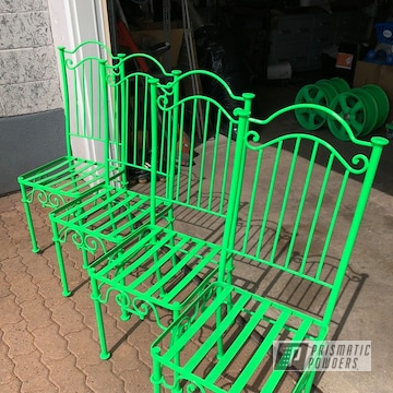 Powder Coated Green Patio Chairs