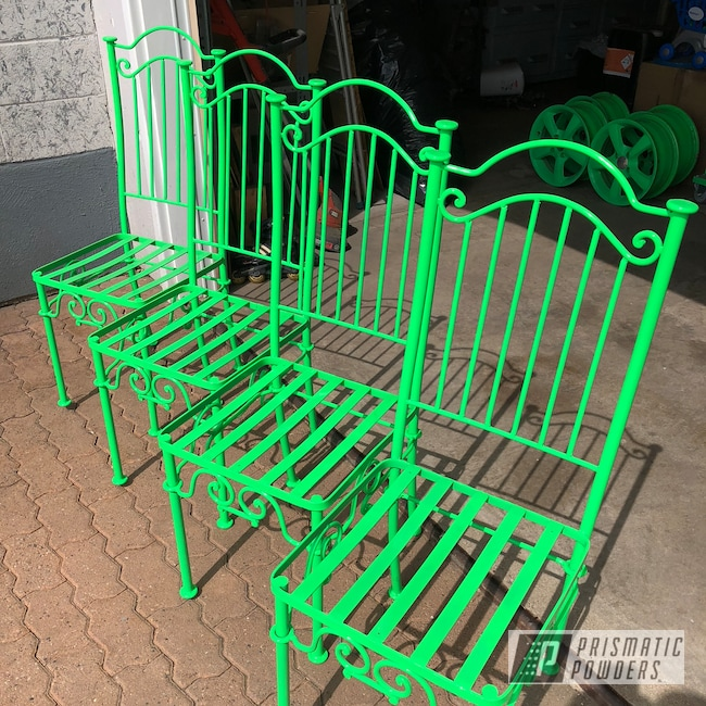 Powder Coating: Chairs,Patio Funiture,Patio Chair,Neon Green PSS-1221