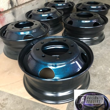Powder Coated 1 Ton Wheels