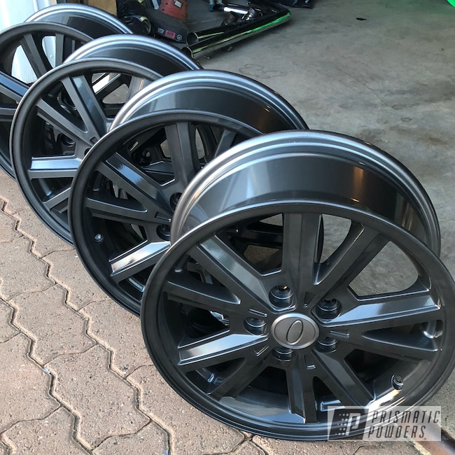 "Powder Coating: Wheels,Automotive,18"",18"" Wheels,ULTRA BLACK CHROME USS-5204"
