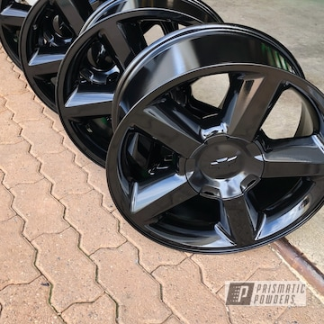 Powder Coated Black Chevy Truck Wheels