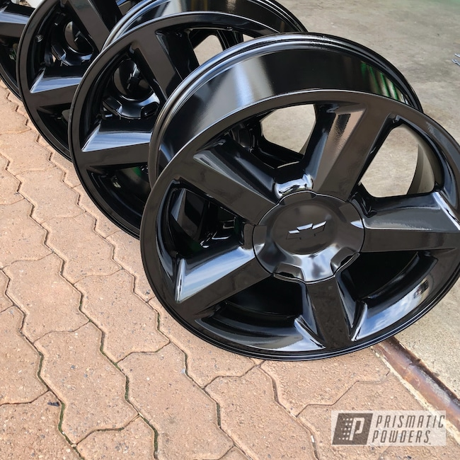"Powder Coating: Matt Black PSS-4455,Wheels,Automotive,18"",18"" Wheels,Chevy"