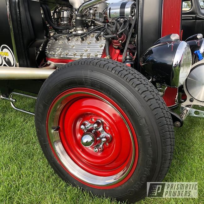 "Powder Coating: Wheels,Model A Wheels,Automotive,Really Red PSS-4416,15"" Wheels"